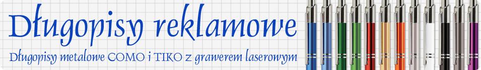 Metalowe długopisy reklamowe z grawerem laserowym