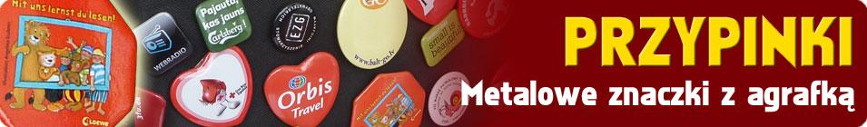 Przypinki - metalowe znaczki z agrafką