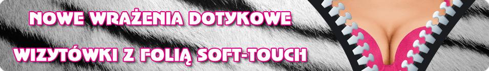 NOWOŚĆ! - Wizytówki z folią Soft-Touch